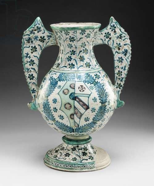 Vase, c.1470 (tin-glazed earthenware)