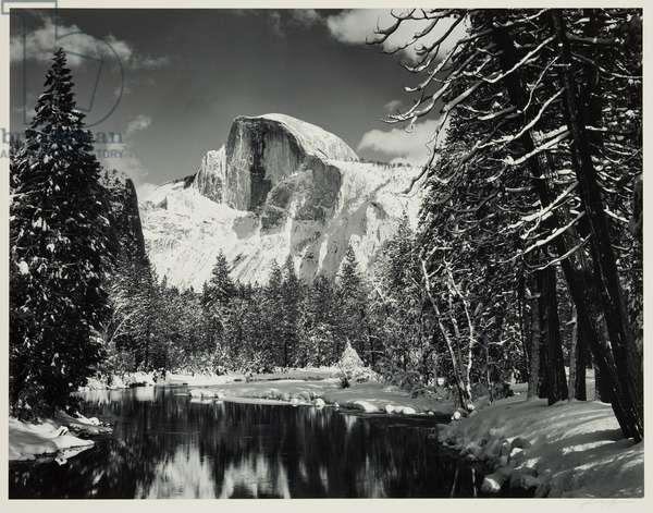 Half Dome, Merced River, Winter, Yosemite Valley, c.1938, printed between 1963 and 1971 (gelatin silver print)