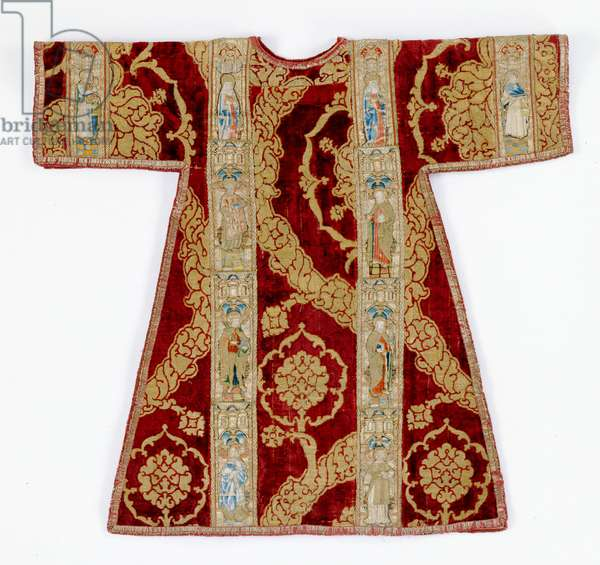 Dalmatic (silk, linen & velvet with metallic thread)