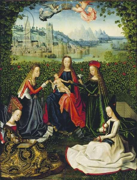 The Virgin of the Rose Garden, 1475-80 (oil on panel)