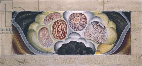 Cells Suffocated by poisonous Gas, detail of the North Wall Fresco, 1932-33 (fresco)