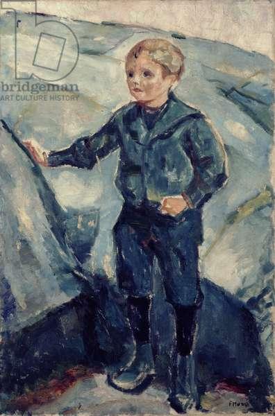 Boy in Blue, c.1900 (oil on canvas)
