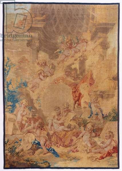 Les genies des Arts, 1761 (wool & silk)
