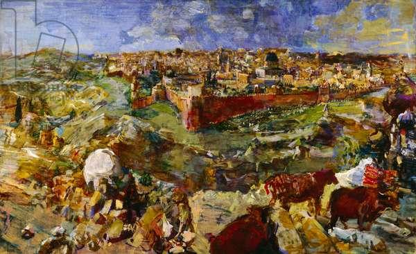 View of Jerusalem, 1929-30 (oil on canvas)