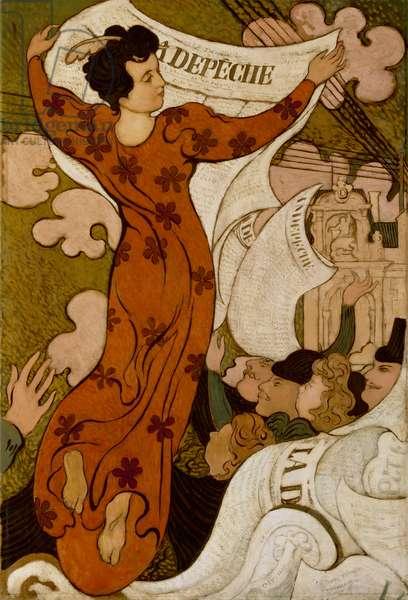 La Depêche de Toulouse, 1892 (oil on canvas)