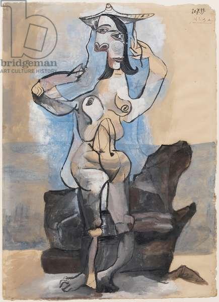 Bather by the Sea (Dora Maar) 1939 (gouache on laid paper)