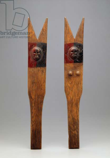 Drumsticks, Delaware, 1875-1900 (carved wood with pigment)