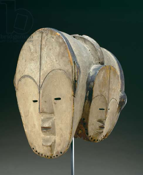 Mask (wood & kaolin)
