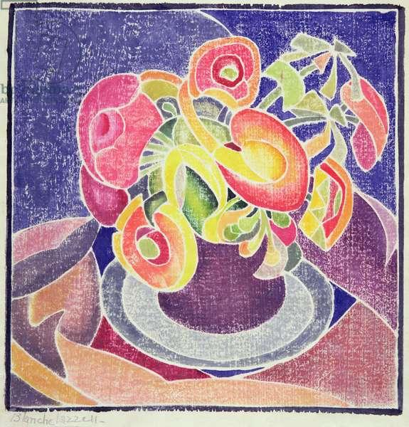 The Violet Jug, 1919 (colour woodcut on japan paper)