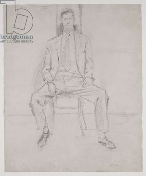 Fairfield Porter, 1954 (pencil on paper)