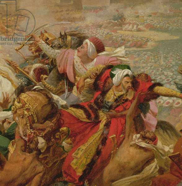 Murat Defeating the Turkish Army at Aboukir on 25 July 1799 (detail), c.1805 (oil on canvas mounted on board)