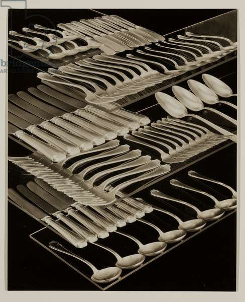 Silverware Still Life, 1930 (gelatin silver print)