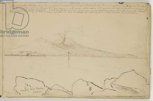 Panorama of the Bay of Naples, c.1832 (pen and brown ink over graphite pencil on off-white wove paper)