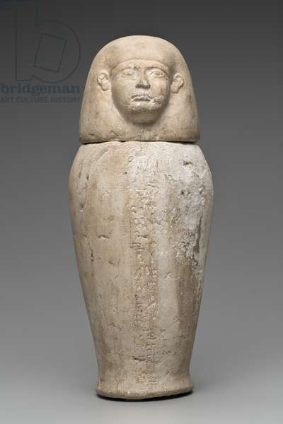 Canopic Jar with Man's Head (limestone)
