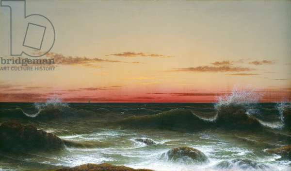 Seascape: Sunset, 1861 (oil on canvas)