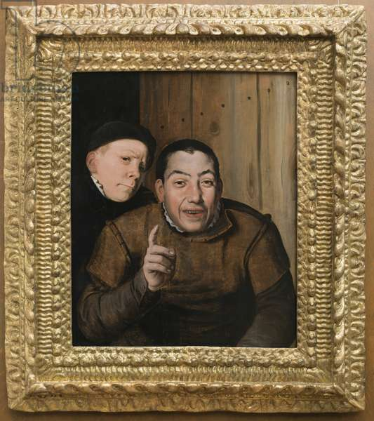 Two Jesters, 1550-75 (oil on panel)