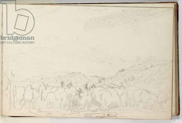 View of Schroon Mountain Looking North June 28, 1837, 1837 (graphite pencil on off-white wove paper)
