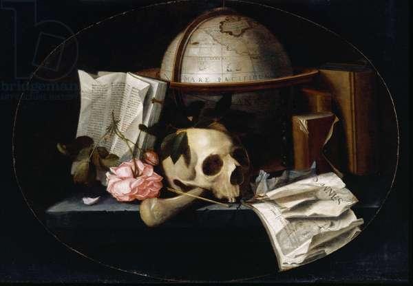 Vanitas Still Life, c.1655 (oil on oak panel)