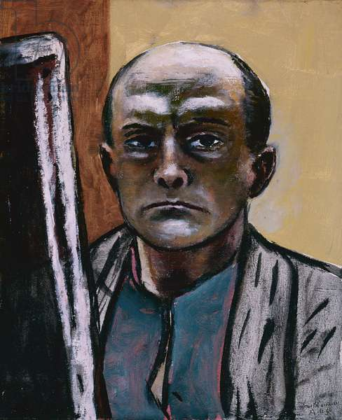 Self Portrait in Olive and Brown, 1945 (oil on canvas)