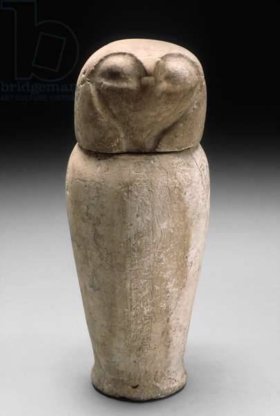 Canopic Jar with Falcon's Head (limestone)