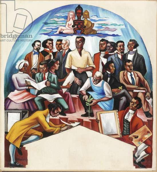 The Art of the Negro: Artists (Study), 1950-51 (oil on canvas)