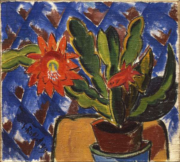 Cactus in Bloom, 1919 (oil on canvas)