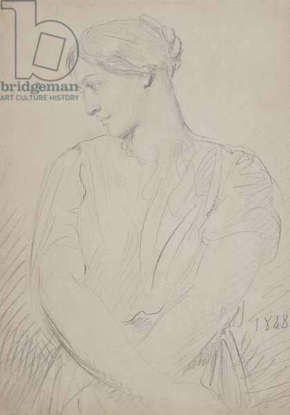 Alice Ozy, 1848 (graphite on paper)