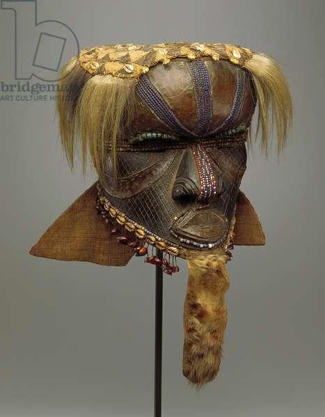 Maboom Mask (wood, fabric, beads, cowrie shell, hide & hair)