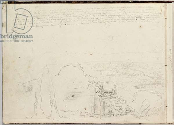 Panorama of Florence, 1831-32 (pencil on paper)