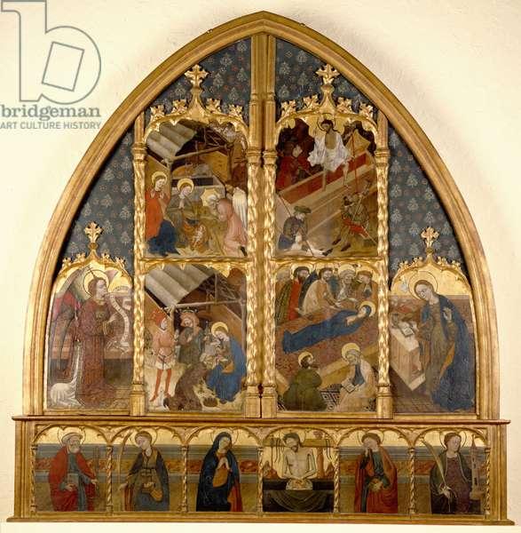 Catalonian Altarpiece, 1450/80 (tempera & gold leaf on panel)