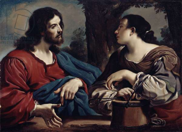 Christ and the Woman of Samaria, c.1620 (oil on canvas)