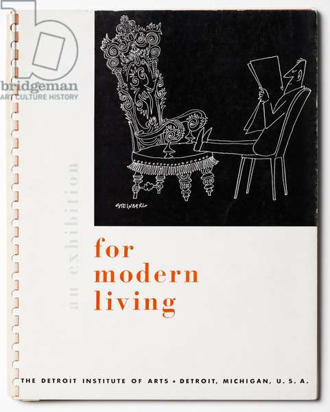 Cover of the catalogue for 'An Exhibition for Modern Living', 1949 (colour litho)