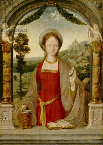 Mary Magdalen (oil on oak panel)