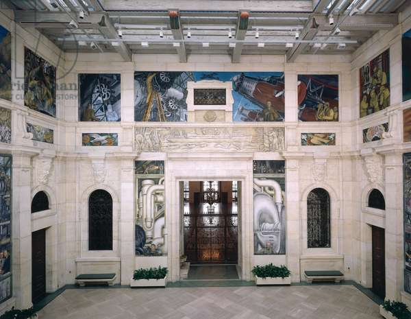 West Wall of a Mural depicting Detroit Industry, 1932-33 (fresco) (see also 139314-6 & 112945 &47)