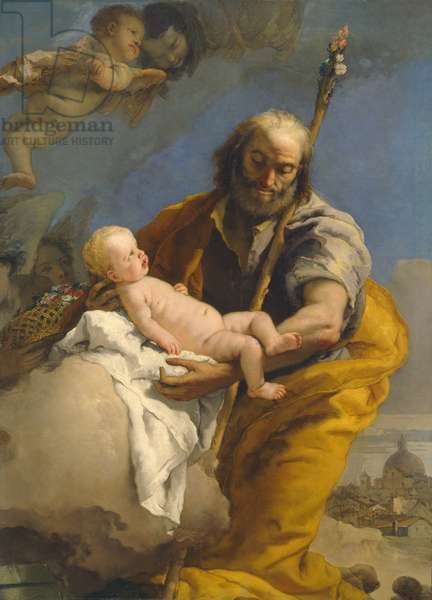 Saint Joseph and the Christ Child, 1767/69 (oil on canvas)