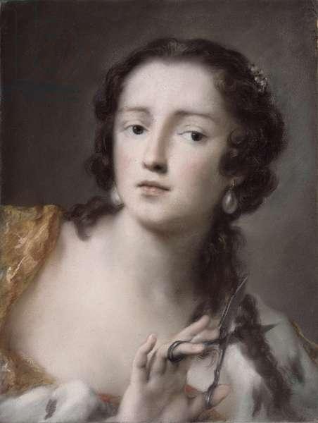 Caterina Sagredo Barbarigo as 'Bernice', c.1741 (pastel on paper mounted on canvas)