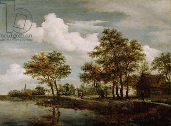 A River Scene, 1658 (oil on oak panel)