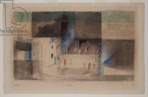 Quimper, 1932 (w/c & pen & ink on paper)