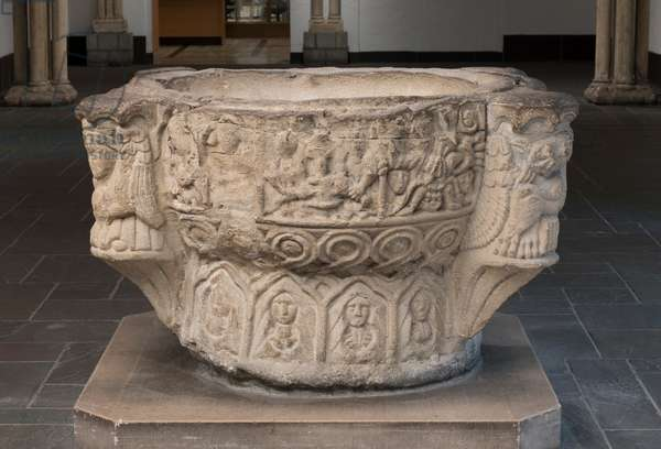 Baptismal Font, 12th century (stone)