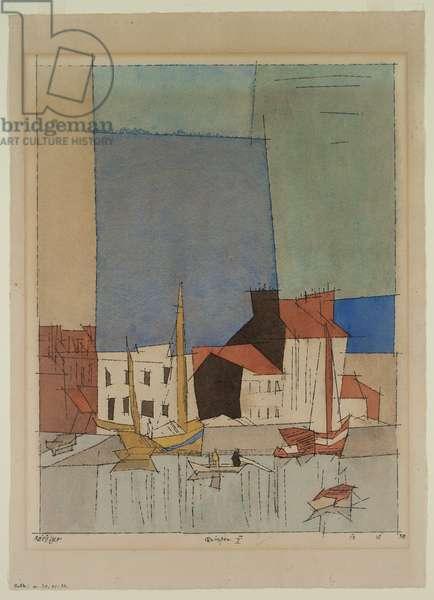Quimper II, 1932 (w/c & pen & ink on paper)
