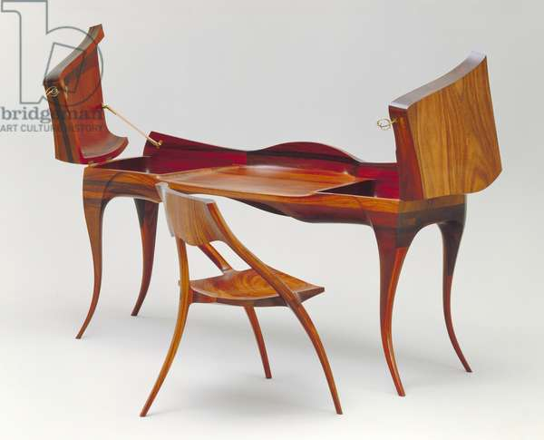Desk and Chair, 1965 (wood)