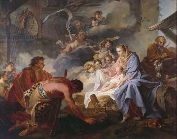 The Adoration of the Shepherds, 1745 (oil on canvas)