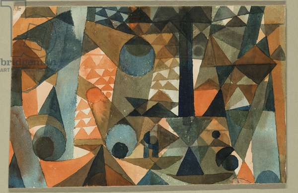 Composition, 1915 (w/c on paper)