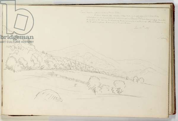 Schroon Mountain from Near the Head of Schroon Lake, 1837 (graphite pencil on off-white wove paper)