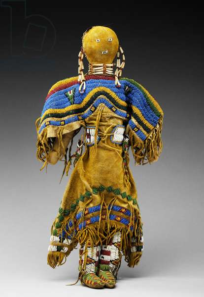 Doll, c.1890 (deerskin & glass beads)