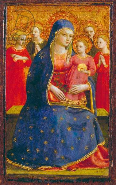 Madonna and Child with Angels, c.1425 (tempera & gold on panel)