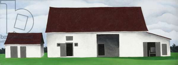 Stables, 1932 (oil on canvas)
