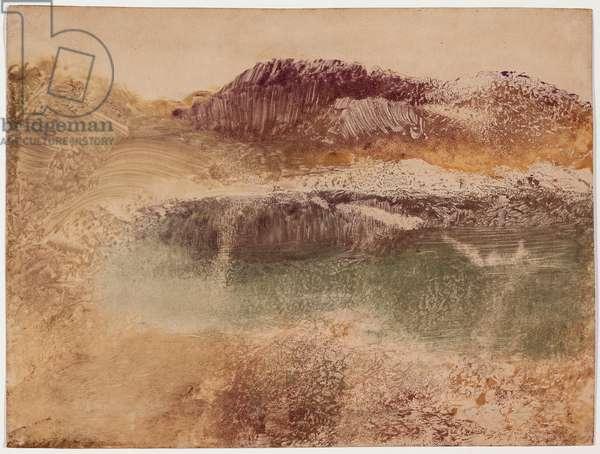 Paysage Roux, c.1890 (monotype on paper)