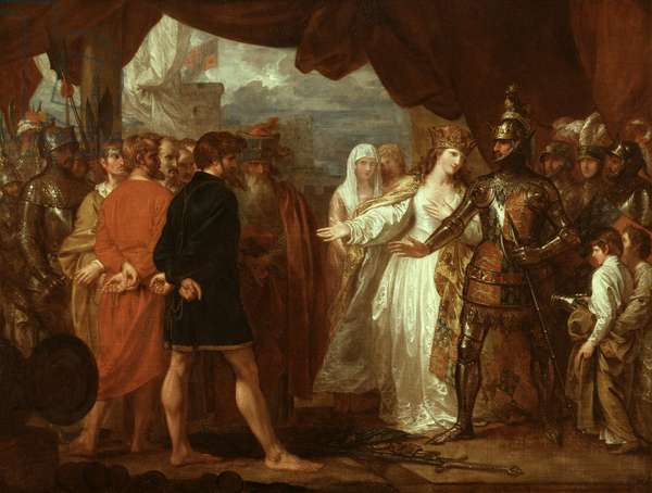 Queen Philippa Interceding for the Lives of the Burghers of Calais, 1788 (oil on canvas)