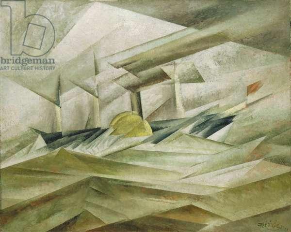 Sidewheeler II, 1913 (oil on canvas)